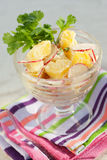 Radish and potato salad Stock Image