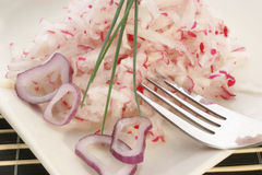 Radish salad with onion rings Royalty Free Stock Photography