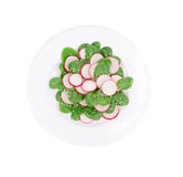 Radish salad with spinach and sesame. Royalty Free Stock Image