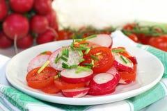 Radish and tomato salad Royalty Free Stock Photography