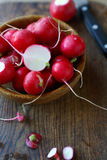 Radishes in a bowl Stock Photo