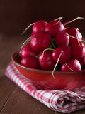 Radishes in a bowl Stock Image