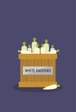 Radishes brancos Imagem de Stock