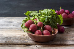 Radishes on the table Stock Photography