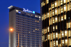 Radisson Blu Hotel Lietuva. On November 05, 2014 in Vilnius, Lithuania. Radisson Hotels is an international hotel company with more than 420 locations in 73 stock images