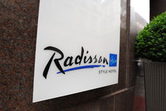 Radisson Blu hotel logo Royalty Free Stock Photo