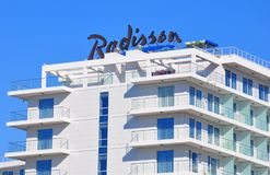 Radisson Blue Hotel, Adler, Russia. Radisson is an international hotel company and a subsidiary of the Radisson Hotel Group. It operates the brands Radisson royalty free stock photos