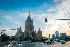 Radisson det kungliga hotellet i Moskva, Ryssland royaltyfri bild