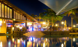 Radisson Fiji Resort by night Stock Photo