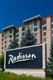 Radisson Hotel and Sign Royalty Free Stock Photography