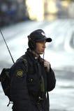 Radist на военном параде Стоковые Изображения
