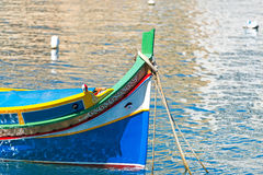 Raditional colourful boats luzzu Stock Photos