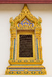 Raditional thai style temple window. at Wat Yai Phitsanulok, Tha Royalty Free Stock Photos