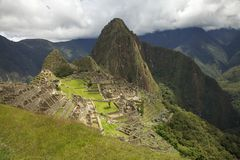 Raditional and typical view of Machu Picchu. Royalty Free Stock Photos