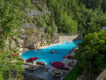 Radium Hot Springs Photographie stock libre de droits
