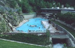 Radium Hot Springs Pool British Columbia Canada Royalty Free Stock Photos