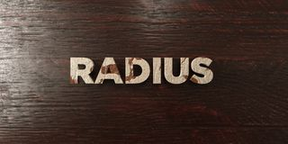 Radius - grungy wooden headline on Maple  - 3D rendered royalty free stock image Stock Image