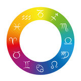 Radix Astrology Symbols In Rainbow Colored Ring Royalty Free Stock Photo