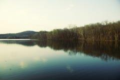 Radnor Lake, Nashville Tennessee crystal blue lake Stock Photos
