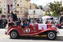 Radny David Ryu jedzie w Los Angeles nowego roku Chińskiej paradzie zdjęcie royalty free