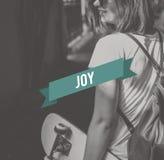 Radość Docenia przyjemności życia pojęcie Fotografia Stock