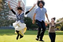 radość skok Zdjęcie Stock