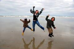 radość skok Zdjęcie Royalty Free