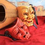 Radości i smucenia karnawału maska Zdjęcia Royalty Free