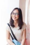 Radości i uśmiechu Asia kobieta Fotografia Stock