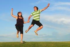 radości skakać zdjęcia royalty free