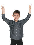 radośni chłopiec potomstwa Zdjęcia Stock