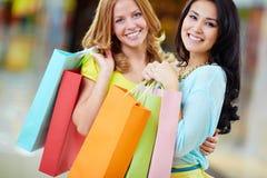 radośni kupujący zdjęcie stock