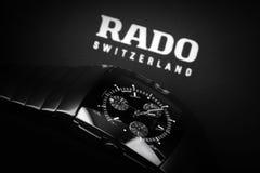 Rado Sintra Chrono, Mens chronograph watch. Saint-Petersburg, Russia - June 18, 2015: Rado Sintra Chrono, Mens chronograph watch made of high-tech ceramics with Royalty Free Stock Image
