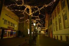 Radolfzell Les lumières de Noël Photographie stock