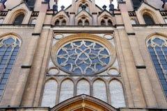 Radom helig oskuld Mary Cathedral Rosette Arkivbilder