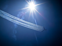 RADOM, POLAND - August 30: RAF Red Arrows Stock Photography