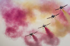 RADOM, POLAND - AUGUST 23: Aerobatic group formation Royalty Free Stock Images