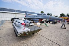 F-16 on Radom Airshow, Poland. Radom, Poland - August 26, 2017: F-16 on Airshow Radom. One of most famous aviation events in central Europe stock image