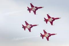 RADOM, POLAND - AUGUST 22: Patrouille Suisse (Switzerland) aerob Royalty Free Stock Images