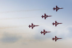 RADOM, POLAND - AUGUST 22: Patrouille Suisse (Switzerland) aerob Stock Photos