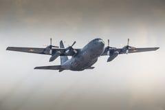 RADOM, POLAND - AUGUST 23: Polish Air Force Lockheed C-130E Herc Stock Image
