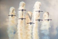 RADOM, POLEN - 23. AUGUST: Aerobatic Gruppenbildung Lizenzfreies Stockbild