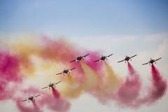 RADOM, POLEN - 23. AUGUST: Aerobatic Gruppenbildung Stockfoto