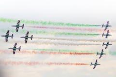 RADOM, POLEN - 23. AUGUST: Aerobatic Gruppenbildung Stockbilder