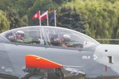 RADOM, POLEN - 26. AUGUST: Flugschauteam Orlik Polen Lizenzfreie Stockfotografie
