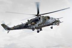 RADOM, POLEN - 22. AUGUST: Hinteranzeige MI-24 während Flugschau 20 Stockfotos