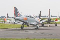 RADOM POLEN - AUGUSTI 26: Orlik Polen aerobatic skärmlag Royaltyfria Foton