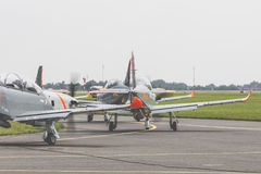 RADOM POLEN - AUGUSTI 26: Orlik Polen aerobatic skärmlag Arkivbild