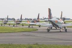 RADOM POLEN - AUGUSTI 26: Orlik Polen aerobatic skärmlag Arkivfoton