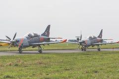 RADOM POLEN - AUGUSTI 26: Orlik Polen aerobatic skärmlag Royaltyfri Fotografi